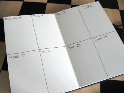 accordion calendar layout