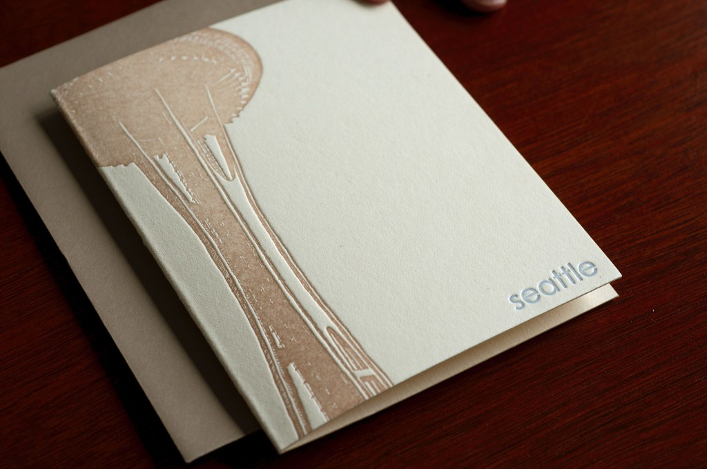 first edition seattle letterpress notecards