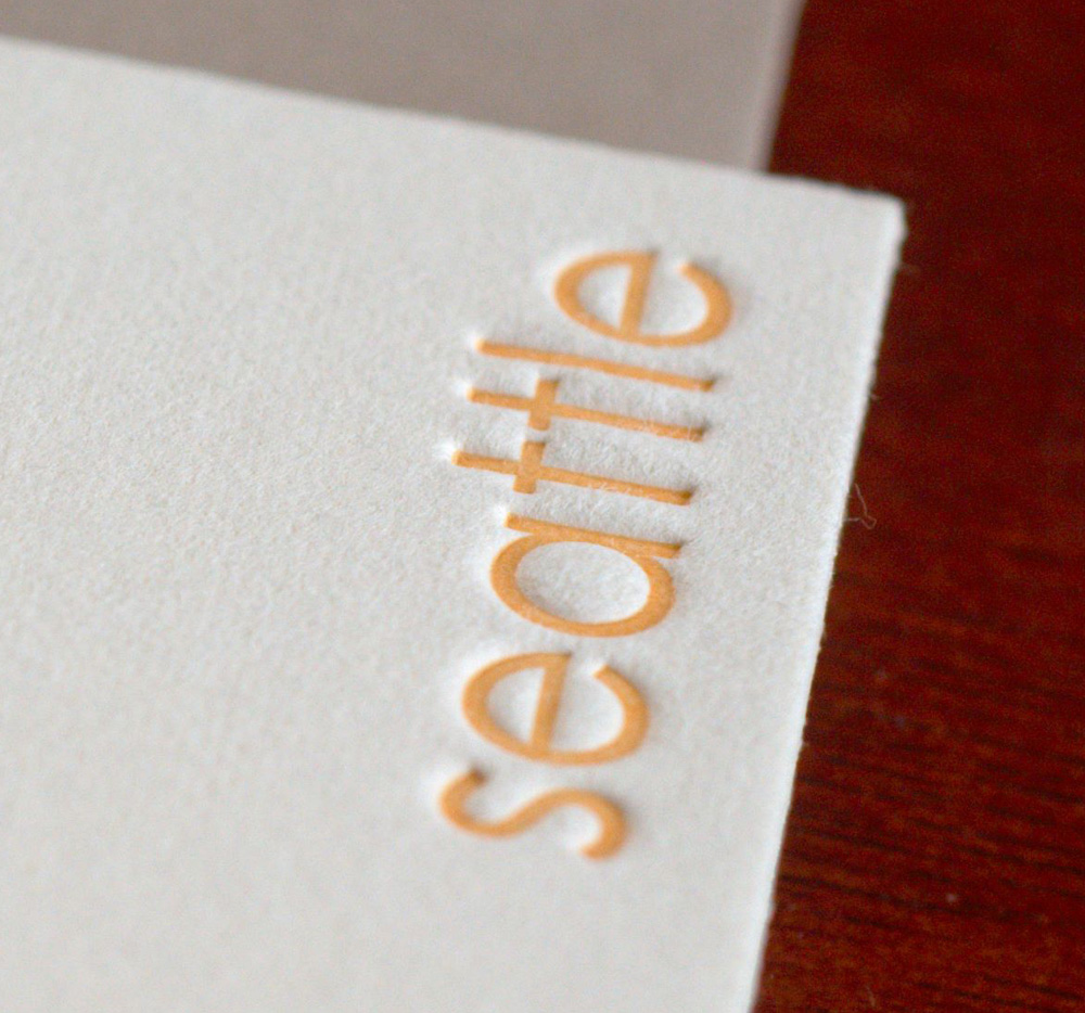 seattle letterpress notecard